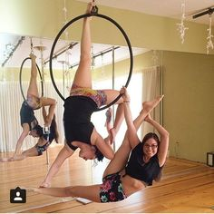 """441 Likes, 24 Comments - Aerial Nation (@aerialnation) on Instagram: """"I love partner tricks. That's why I'm really looking forward to taking the lyra partner class with…"""""""