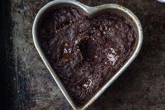 Healthy(ish) Single-Lady, Vegan, Molten Fudge Brownie