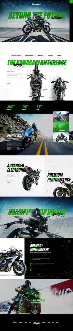 Kawasaki Ninja H2R #webdesign #concept #interface