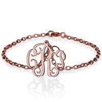 18K Rose Gold Over Silver Hanging Monogram Bracelet-u could do that!