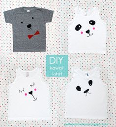 petit à petit and family: DIY: kawaii t-shirts