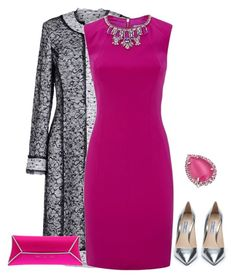 A fashion look from September 2015 featuring mini dress, Oscar de la Renta and prada shoes. Browse and shop related looks. Pink Outfits, Mode Outfits, Classy Outfits, Stylish Outfits, Beautiful Outfits, Dress Outfits, Modest Fashion, Fashion Dresses, Sexy Dresses