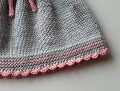 Baby skirt knitted baby skirt merino wool skirt grey by Tuttolv