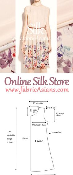 Floral print Silk. Fixed Position Prints. Silk by fabricAsians