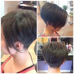 Great hair, fun with this one. #asymmetricalhair #hair #shorthair #cut #clipper #clippercut #haircut #buzzednape #pixie #pixiehaircut #style