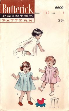 1950s Butterick 6609 Vintage Sewing Pattern by midvalecottage