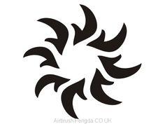 Airbrush tattoo stencil V005 Airbrush Tattoo, Tattoo Stencils, Adhesive, Moose Art, Ink, Tattoos, Design, Temporary Tattoo, Stencil