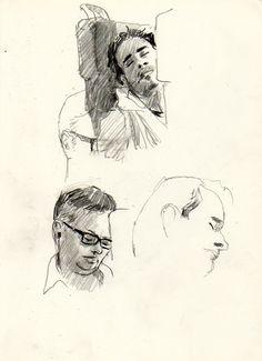 Urban Sketchers: People on train