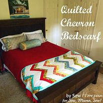 Quilted Chevron Bedscarf Tutorial