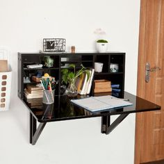 Gaston small hanging desk design from florence watine klein hangend schr - Petite table pliable ...