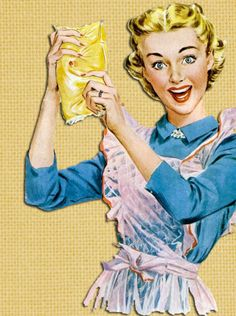"""Making margarine yellow ~ The """" color """" was a bright yellow-orange in a bottom corner and you kneaded the color into the packet until it turned this pretty yellow! My Mother and I used to play catch to mix it up. Vintage Love, Vintage Prints, Vintage Ladies, Retro Vintage, Retro Images, Vintage Pictures, Vintage Images, Vintage Housewife, Retro Ads"""