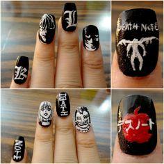 DeviantArt is the world's largest online social community for artists and art enthusiasts, allowing people to connect through the creation and sharing of art. Death Note Funny, Lux Nails, Anime Nails, Crazy Nails, Cool Nail Designs, Nail Inspo, Nails Inspiration, Acrylic Nails, Beauty Makeup