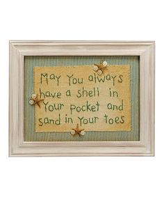 Take a look at this 'May You Always' Stitchery Wall Art by Primitives by Kathy on #zulily today!