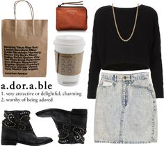 """""""Coffee & shopping. ♡"""" by c0ffee-kid ❤ liked on Polyvore"""