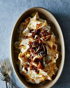 Pasta with Yogurt and Caramelized Onions