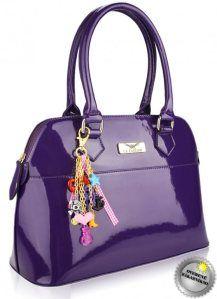 kabelky fialove, lakovane damske kabelky
