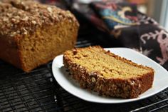 Streusel-Topped Pumpkin Bread - this would be delis to start Thanksgiving morning with; I'm going to try it this year!!