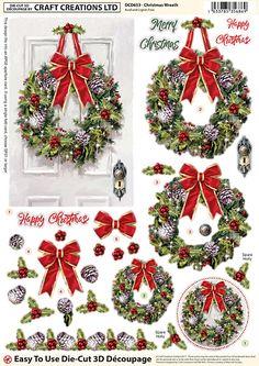 Amy Design//Christmas Feelings //Decoupage//Set of Four// Paper Sheets//3D PUSH OUT