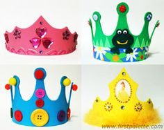Have fun making these cute craft foam crowns your kids can wear. Tutorial by First Palette.