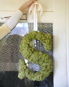 I love monograms...and i happen to love moss a fair it lately and together i love the earthy charm! I have a framed moss monogram with burlap background in my own home!