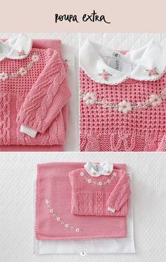 Como é importante levar uma roupinha extra para a maternidade, escolhemos esse conjuntinho rosa, já que a cor representa carinhoe amor.