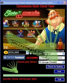 Slotomania Hack Cheat Tool [generator Facebook, Android and iOS] http://www.hackcheatz.com/slotomania-hack-cheat-unlimited-coins-adder-slotomania-coins-generator-facebook-android-and-ios-cheat-updated-2013/