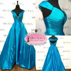 Sherri Hill Couture -- Turquoise Pageant Gown Size 6 $3100.00 - In Stock Now at Ashley Rene's! This dress can also be custom ordered in any size, color, with many custom options! Contact us today for more information 574 522 7766 or email ashley@ashleyrenesonline.com