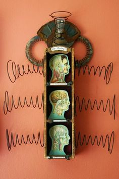 Dr. Batty's For Your Health, mixed media assemblage by Anastasia Osolin