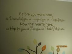 Baby's Room Quote