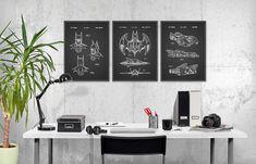 Batman-Patent Print Wand Kunst Poster Set 3  von QuantumPrints