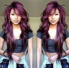 Passion plum.....xoxo #hair #haircolor #plumhair #purplehair