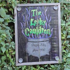The Leaky Cauldron Pub Sign