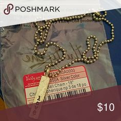 Brand new JK by Thirty-one chain with love charm 18 ball chain with love Charm Jewelry Necklaces