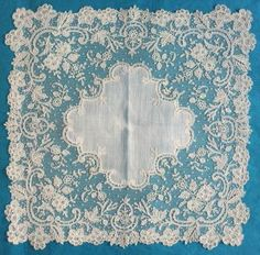 Excellent handkerchief from Brussels bobbinlace applique on machine net from the 1/15/2017 Ebay Alerts.