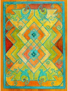 Wow.  Floorcloth|Double Diamond by Patricia Dreher