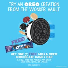 Get a #free MILKA OREO Chocolate Candy Bar at @krogerco now through June 20. Thx to our #spon ! We're helping promote this offer and the newest OREO WonderVault flavors! I'm talking Cinnamon Bun, Red Velvet, Birthday Cake and more. I've always loved @oreo cookies and the new OREO salted caramel thins just may end up as our family sweet treat next week! I should not be left alone with the bag. #enterthewondervault #collectivebias #mewantcookies #oreos #newflavors #foodfrommychildhood #ad