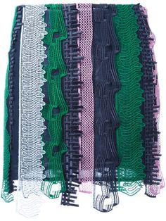 VERSACE Embroidered Patchwork Mini Skirt. #versace #cloth #skirt