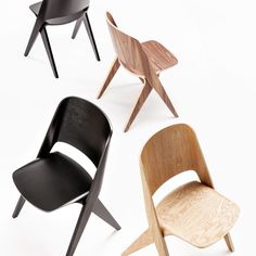 Timo Mikkonen and Antti Rouhunkoski design timelessly, but with time. The work of design studio Poiat, such as the sought-after Lavitta chair collection, combines minimalism with rich materials. Furniture Legs, Metal Furniture, Furniture Making, Furniture Design, Solid Wood Sideboard, Plywood Design, Comfortable Accent Chairs, Woodworking Industry, Plastic Adirondack Chairs