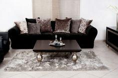Modern dark coloured Couch