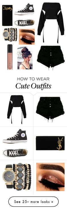 """""""Cute outfit"""" by malloryfrase on Polyvore featuring Dorothee Schumacher, Nobody Denim, Yves Saint Laurent, Jessica Carlyle and L'Oréal Paris"""