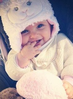 possibly the cutest ever - baby in a lamb outfit...<3