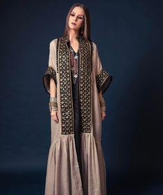 Kimono idea for abaya - Prom Dresses Design Abaya Fashion, Kimono Fashion, Ethnic Fashion, Modest Fashion, African Fashion, Boho Fashion, Fashion Dresses, Fashion Design, Mode Abaya