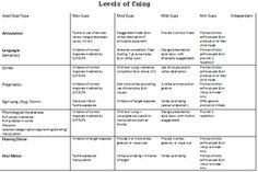 Levels of cuing! Thanks to thethriftyslp!