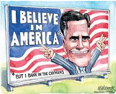 Mitt Romney Humor Roundup: Mitt Romney Political Cartoons