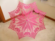 Lace Crochet UMBRELLA PARASOL