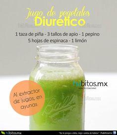 Jugo de vegetales diurético