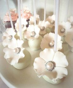 Wedding cake pops by Niknaks Sweetest Treats