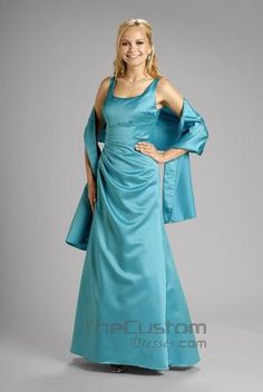 A-line Square Ankle-length Satin Bridesmaid Dresses 14305106