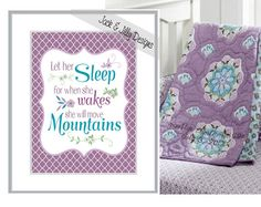 LET HER SLEEP For When She Wakes She will move Mountains - 8x10 Vintage Print - Colours can be customized - Pottery Barn Brooklyn on Etsy, $12.00 CAD