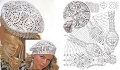 Crochet Lacy Beret